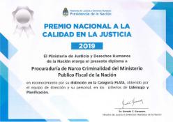 PROCUNAR y UFESE, reconocidas en el Premio Nacional a la Calidad en Justicia